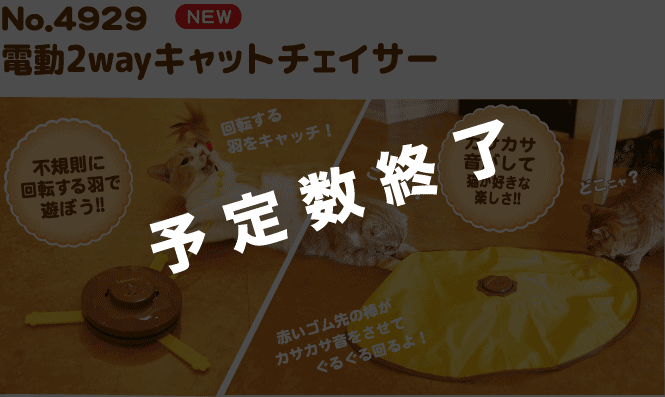 A:N0.4929電動CATTOY2WAYキャットチェイサー