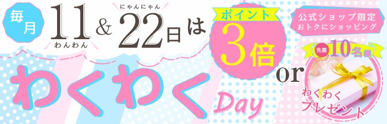 毎月11日・22日は「わくわくデー」!お得なお買い物ができるチャンス!